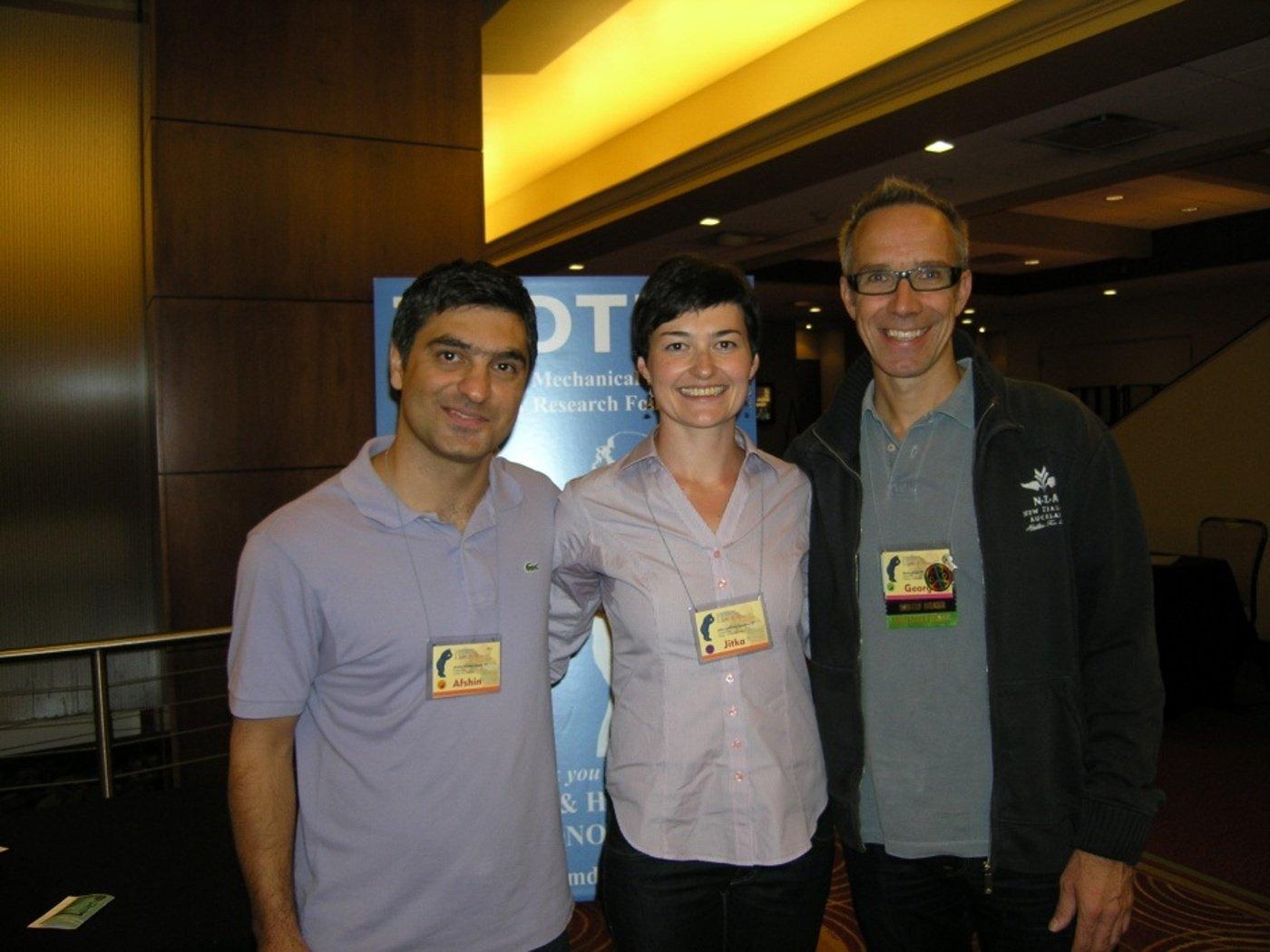 S kolegou Afshinem z Íránu a Georgem z Německa